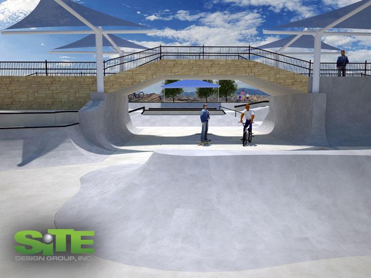 פארק האקסטרים במודיעין. מיועד לסקייטרים ולרוכבי אופני BMW. הפתיחה באפריל, יחד עם הטמנת קפסולת זמן בפארק (הדמיה באדיבות עיריית מודיעין)