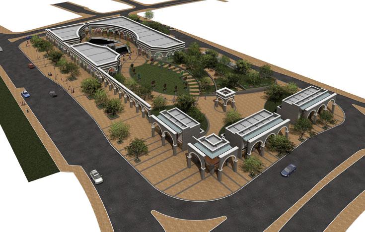 גן העיר המחודש בטבריה. השקעה של 90 מיליון שקלים אמורה לטפח את מרכז העיר המוזנחת, ולאפשר חניה תת-קרקעית במקום החניונים המכוערים שמעטרים אותה (הדמיה: אבנר שר)