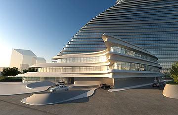 הרים? מניפות? המגדלים החדשים שייבנו בבייג'ין (הדמיה: Zaha Hadid Architects)