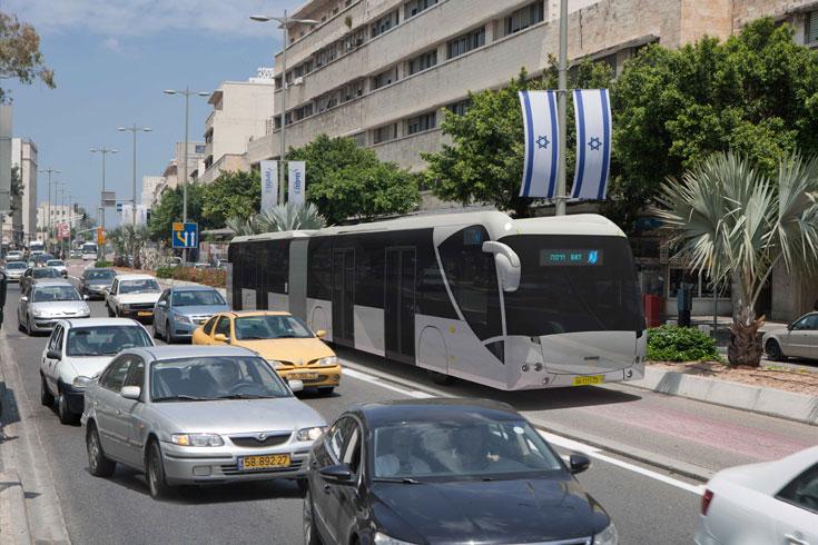 מיליארד שקלים (!) מושקעים בפרויקט התחבורה ''מטרונית'' בחיפה ובפרווריה. מהפכה תחבורתית ושינוי משמעותי ברחובות מרכזיים (הדמיה: מור דגן)