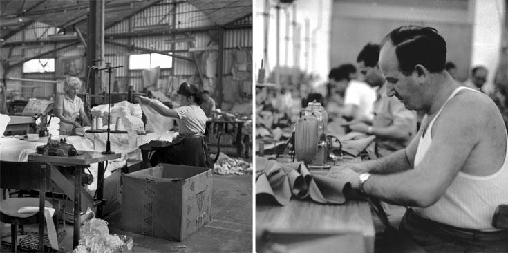 מפעל אתא. ''ביום שייסגר אתא, ייסגר גם המעגל הראשון של מדינת ישראל כפי שרצתה להיות'' (צילום: אנה ריבקין בריק 1962 באדיבות ארכיון ציוני מרכזי )