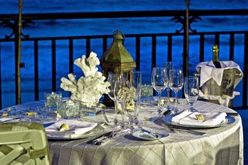ארוחת ערב עם נוף לאוקיינוס האטלנטי (צילום: Ritz Carlton Hotel)