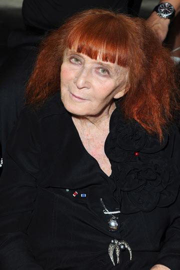 סוניה ריקל בת ה-81 בשורה הראשונה של תצוגת האופנה (צילום: gettyimages)