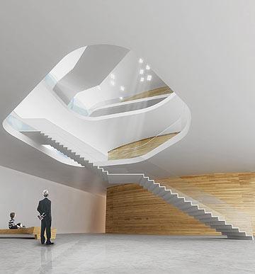 פנים המוזיאון, לפי ההצעה של חיוטין אדריכלים (הדמיה: חיוטין אדריכלים)