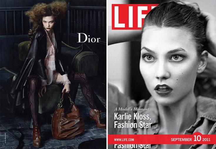 קרלי קלוס על שער מגזין לייף ובקמפיין של דיור. סופר מודל סנסציונית או נערה צנועה ורגועה?