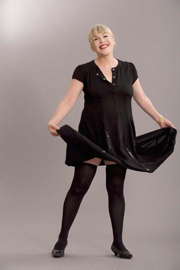 מעצבת האופנה טובה'לה חסין. משתתפת בשבוע האופנה (צילום: אפרת שליטא בונדי)