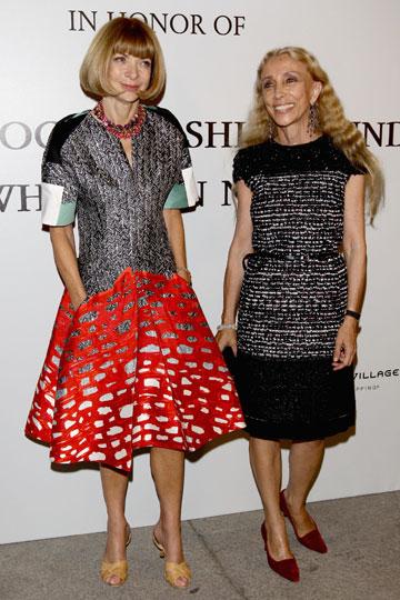 פרנקה סוזאני, עורכת הווג האיטלקי, ואנה ווינטור, עורכת הווג האמריקאי (צילום: gettyimages)