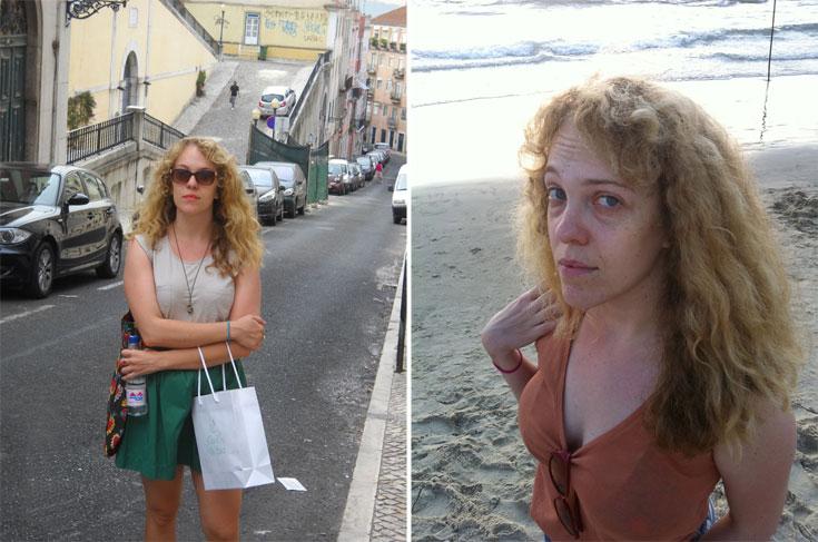 ימין: תלתלים בשמש התל אביבית. משמאל: יום טוב לשיער ברחובות ליסבון