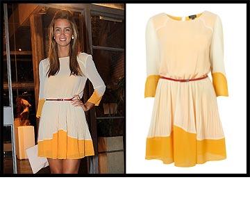 שונית פרג'י נראית מצוין בשמלה של טופשופ (699 שקל)