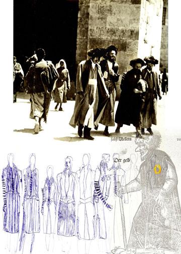 לוח ההשראה של פרייליך לפרויקט re-oriented fashion design 2006
