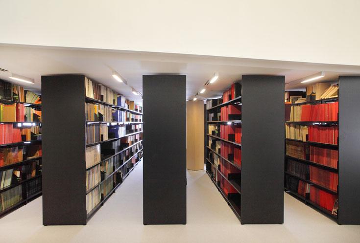 הספרייה יכולה להכיל כ-100 אלף ספרים. כרגע היא הגיעה ל-75% תפוסה (צילום: אמית הרמן)