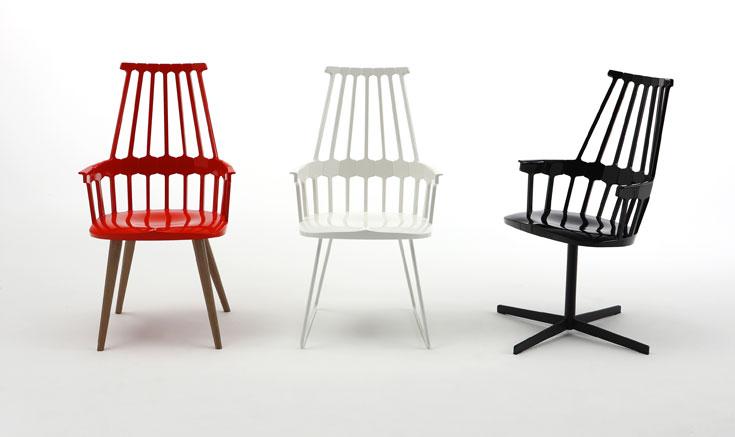כיסא combak עבור Kartell. תמיד צבעוניות עזה, ושימושיות מובהקת