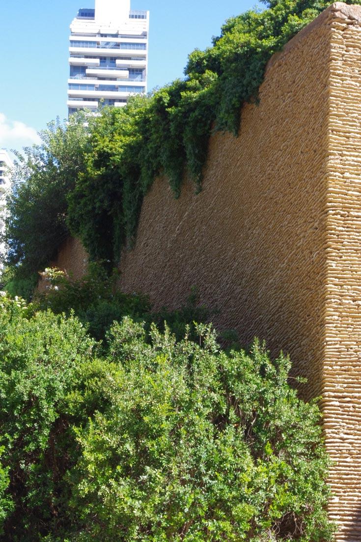 עשור חמישי: מגדלי אקירוב, תל אביב. כאן שיחזרו את גבעת הכורכר הטבעית, באופן מלאכותי על גגות החניונים, ליצירת מראה מקומי (צילום: דן צור וליאור וולף אדריכלי נוף)