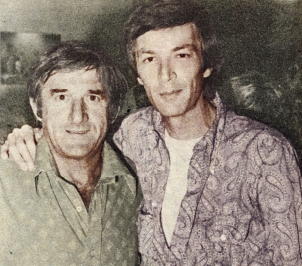 עם שייע גלזר, 1975 (באדיבות להיטון)