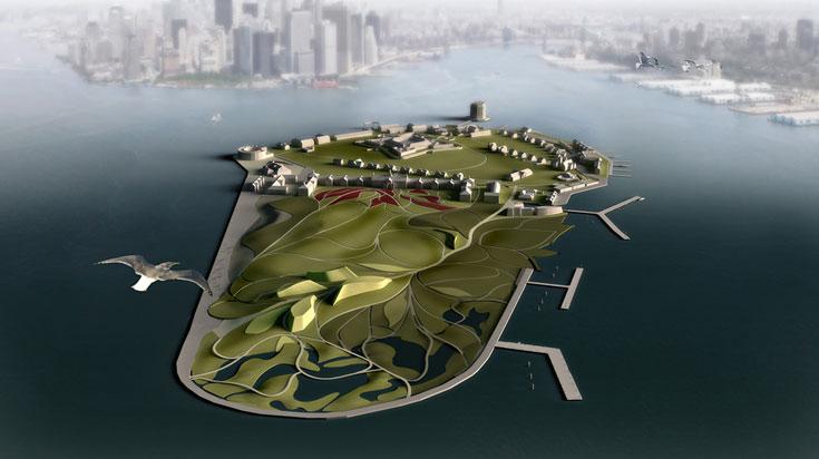 פרויקט הדגל העכשווי: Governors Island, בואכה מנהטן. האי יהפוך לפארק עירוני, חוויה של טבע בעיר ללא הפסקה (באדיבות: West 8 urban design & landscape architecture)