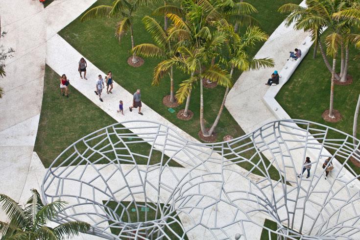 הפארק העירוני במיאמי ביץ', מבט מלמעלה (צילום: West 8 urban design & landscape architecture)