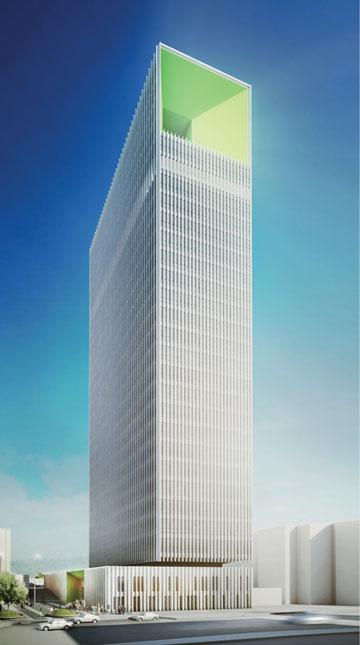 ההצעה של ''החדר''. מגדל משרדים בולט (הדמיה: החדר)