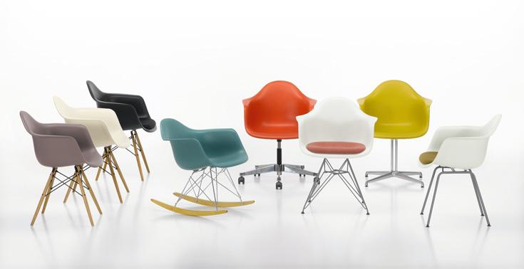 את כורסת אימס המפורסמת תמצאו בתמונה בכתבה למטה. כאן עוד דוגמאות לכסאות שגם שישה עשורים לאחר שנוצרו מככבים במגזיני העיצוב (צילום: Marc Eggimann, באדיבות הביטאט)