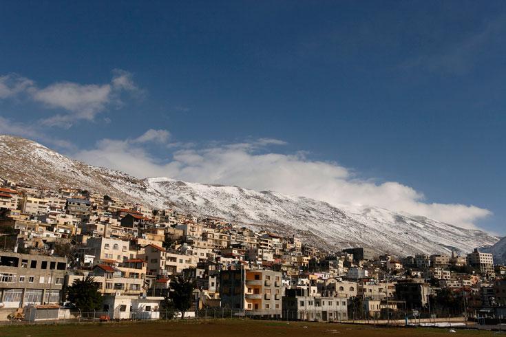 לא חייבים להגיע לפסגת החרמון. שלג במג'דל שמס (צילום: חנן ישכר)