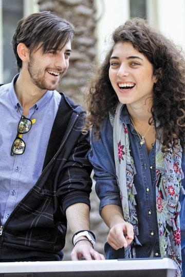 """""""השילוב בינינו מרגיש מעולה"""". רוני דלומי ודוד לביא (צילום: אילן בשור)"""