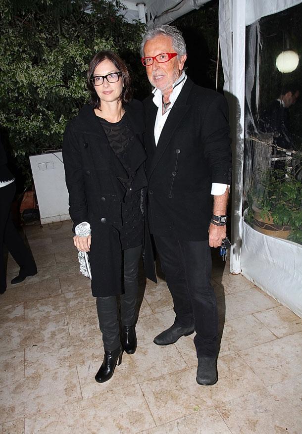 גדעון וקארן אוברזון מגיעים לבית שגריר איטליה (צילום: אביב חופי)