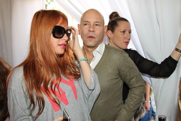 רמי ואלכס בשבוע האופנה. יש לו קשרים במקמות גבוהים (צילום: רפי דלויה)
