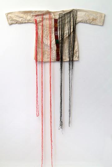 עבודה של בוטינה אבו מילהם, מתוך התערוכה (צילום: יקיס קידרון)