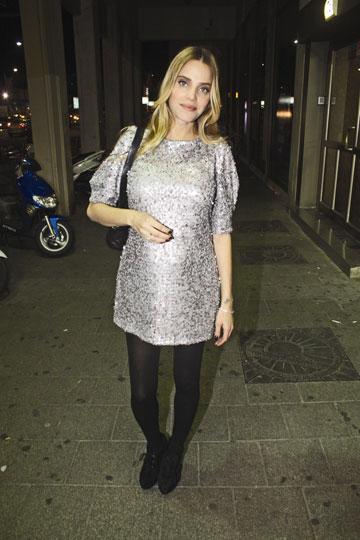 השמלה המרחיבה. רותם סלע בתקופת ההריון (צילום: ניר פקין)