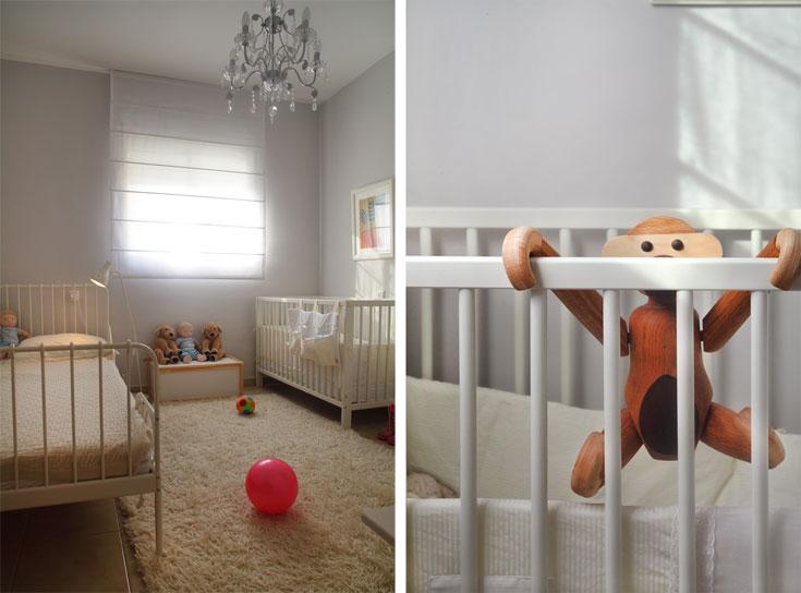 חדר הילדות. הווילונות מ''רנבי'', קוף העץ מ''אלמנטו''. כל השאר, כולל השטיח, אתם יודעים מאיפה (צילום: אמית הרמן)