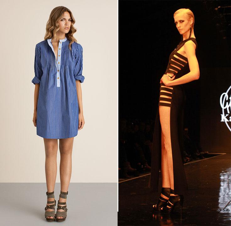 האופנה הישראלית זוהרת על המסלול בתצוגה של קארן וגדעון אוברזון בשבוע האופנה תל אביב (מימין) והקולקציה האחרונה שיובאה לבוטיק קפה ביזאר, שסוגר בימים אלו את שעריו