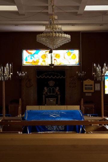 בית הכנסת בישיבה התיכונית בר אילן (צילום:  טל ניסים )