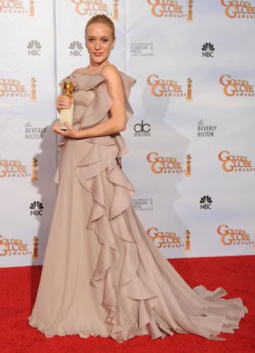 בשמלה של ולנטינו בטקס גלובוס הזהב, 2010. ''ראיתי אותה וידעתי. היא דיברה אליי'' (צילום: gettyimages)