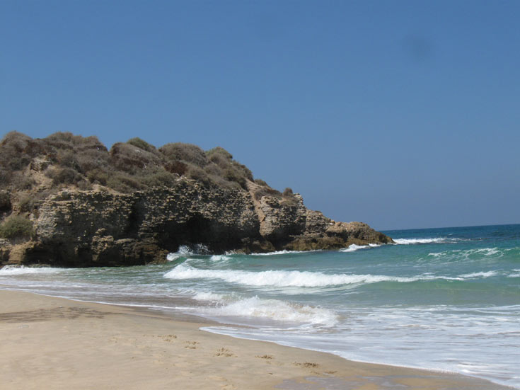 פלמחים. החוף נשאר בידי המטיילים (צילום: אריאלה אפללו)