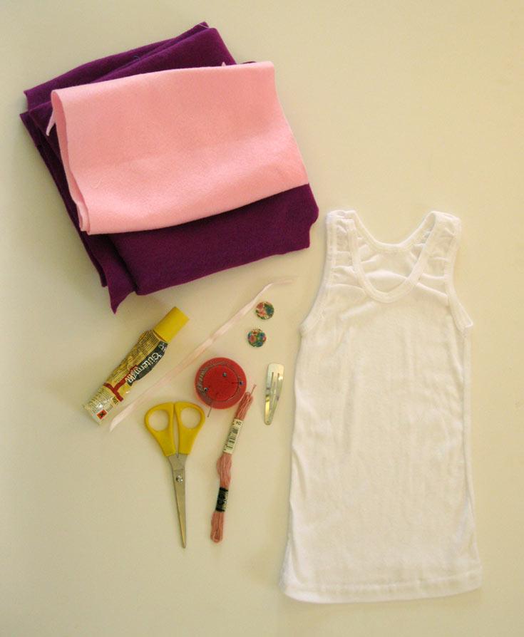 החומרים הדרושים לשדרוג גופייה לילדה (צילום: חן קרופניק )