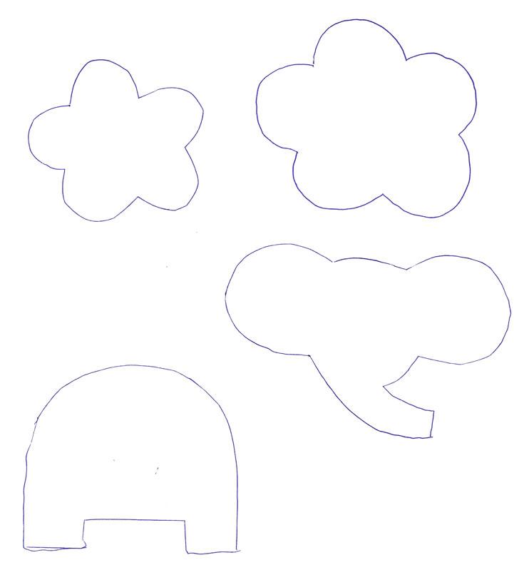 שבלונה לאפליקציית פיל ואפליקציית פרח (צילום: חן קרופניק )