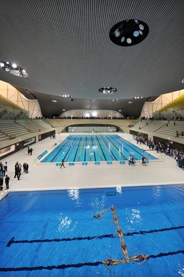 בריכת השחייה של אולימפיאדת לונדון 2012. פארק על קרקע מזוהמת שטוהרה (צילום: gettyimages)