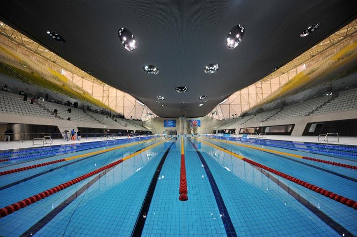 קומפלקס השחייה יאכלס שלוש בריכות ו-17,500 צופים (צילום: gettyimages)