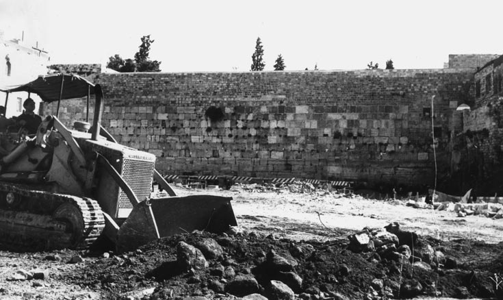השכונה חוסלה במבצע-בזק שנמשך 3 שעות בלבד, בהחלטה מיידית של השלטונות לאחר מלחמת ששת הימים (באדיבות אאי)