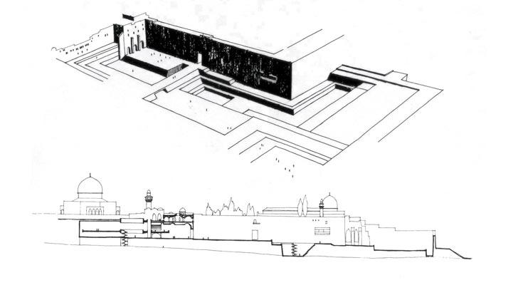 האדריכל שלמה אהרונסון הבין, כי לא יהיה שינוי מיידי אלא איטי, בדומה לכיכרות המפורסמות באיטליה. הציע לחפור במזרח הרחבה כדי להגיע למפלס הרחוב בתקופת בית שני (באדיבות אאי)