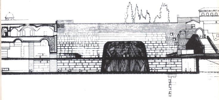 הצעה אחרת, של איסמו נוגוצ'י, חשבה שצריך למקם אבן ענקית, בדומה לכעבה במכה, במרכז רחבת הכותל (באדיבות אאי)