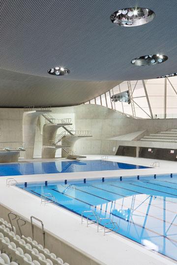הבריכה האולימפית בלונדון. ספגה ביקורת (באדיבות Zaha Hadid Architects)