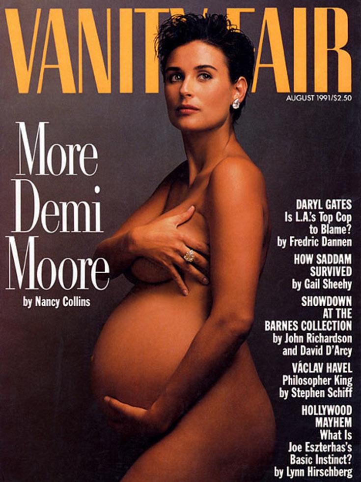 דמי מור על שער מגזין וניטי פייר, אוגוסט 1991. ''זה היה צילום שכולו אמר אנטי-הוליווד, עם אטיטיוד שאינו נוצץ''