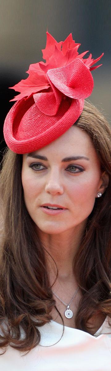 קייט מידלטון, הכי טרייה בשוק הכתרים. הפעם עם כובע (צילום: gettyimages)