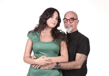 פרזנטורית mlLY תמרה אהרוני ואביה, השף ישראל אהרוני (צילום: אורית פניני)