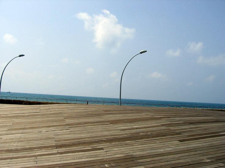 נמל תל אביב, בתכנון מייזליץ-כסיף. צמד האדריכלים, זוכה פרס רכטר, מייצג בהתמודדות את משרד RMGM הבריטי (צילום: רון אלמוג)