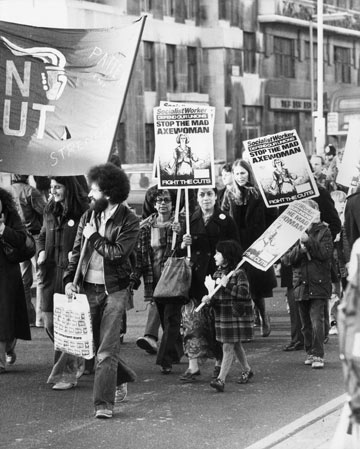 הפגנות בבריטניה, 1979 (צילום: gettyimages)