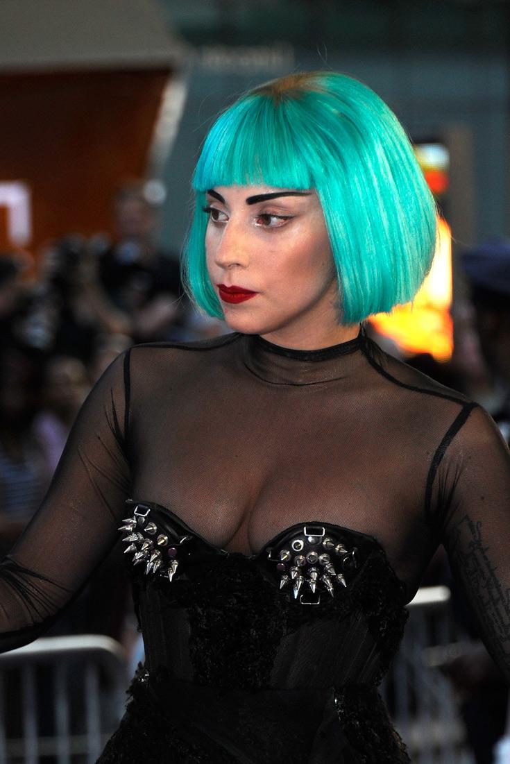 הטורקיז עלה לה לראש: ליידי גאגא (צילום: GettyImages Image Bank)