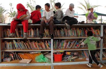ספריית גן לוינסקי בדרום תל אביב. תפישת תפקיד חדשה (צילום: שאול גולן)