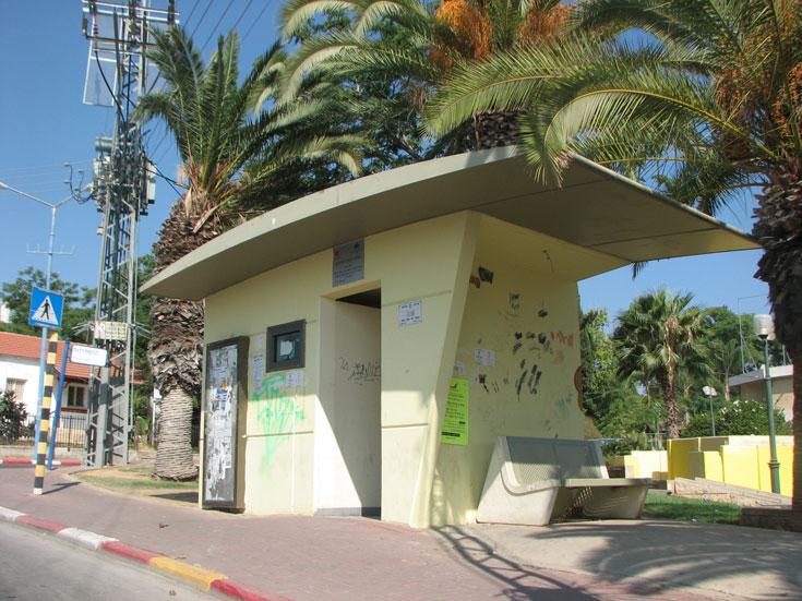 תחנת הסעה בשדרות (צילום: מיכאל יעקובסון )