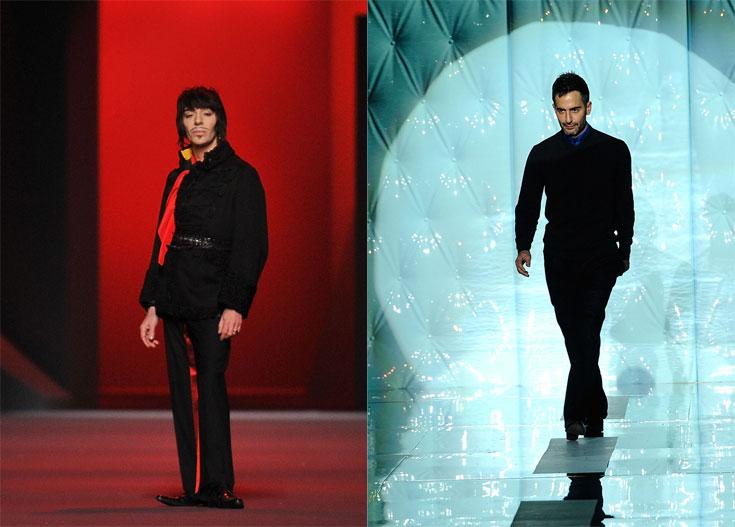 מימין: מארק ג'ייקובס, משמאל: ג'ון גליאנו. מקורות מוסרים כי הנהלת דיור נלהבת מהרעיון למנות את ג'ייקובס למנהל הקריאטיבי של בית האופנה (צילום: gettyimages)